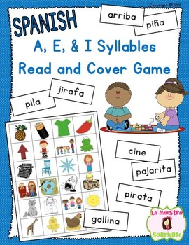 Read and Cover Game: Decoding I Syllables (Spanish)