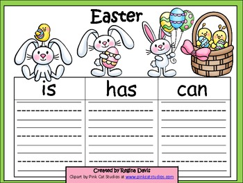 A+  Easter or Spring ... Three Graphic Organizers