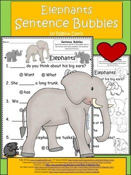 A+ Elephants: Fill In the Blank.Multiple Choice Sight Word