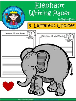 A+ Elephant ... Writing Paper