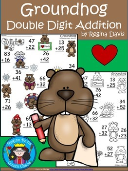A+  Groundhog Day: Double Digit Addition