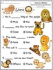 A+ Lions: Fill In the Blank.Multiple Choice Sight Word Sentences