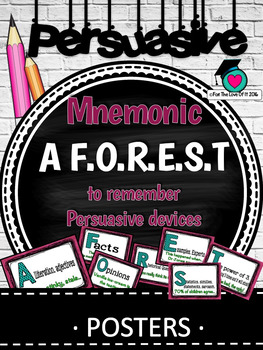 PERSUASIVE WRITING DEVICES - A F.O.R.E.S.T mnemonic/prompt