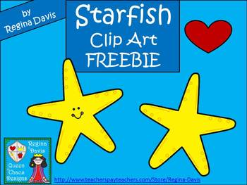A+ FREEBIE....Starfish Commercial Clip Art