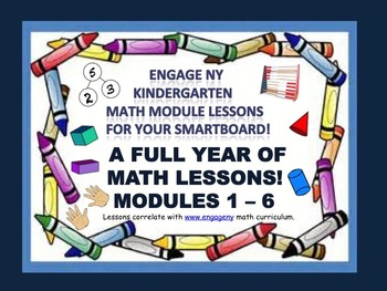 A FULL YEAR OF MATH LESSONS!!! Engage NY Kindergarten Math