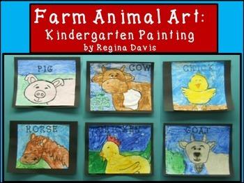 A+ Farm Animal Art: Kindergarten Painting