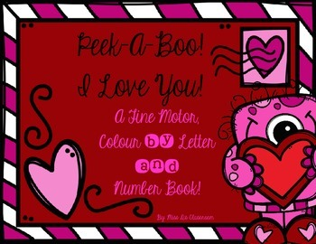 A Fine Motor, Colour by Letter & Number Book! FREEBIE