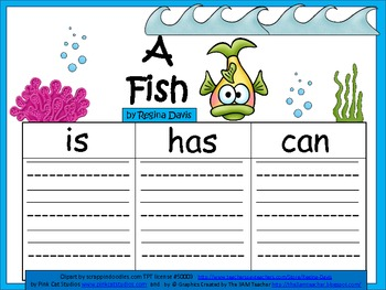 A+  Fish ... Three Graphic Organizers
