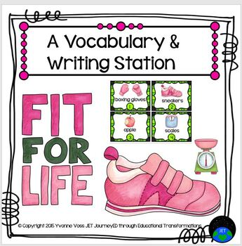 A Fitness Vocabulary and Writing Station