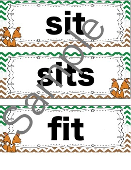 A Fox and a Kit Spelling Words