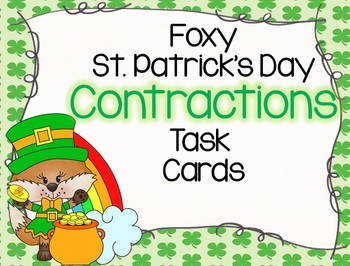 Foxy St. Patrick's Day Contractions Task Cards