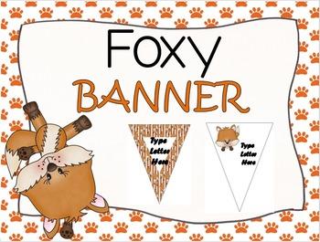 EDITABLE Foxy Banner
