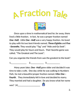 A Fraction Tale