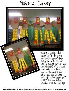 A Free Goofy Turkey Pattern
