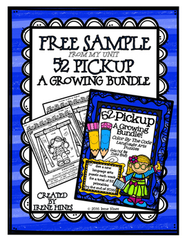 A Free Sample From 52 Pickup: A Growing Bundle of Language