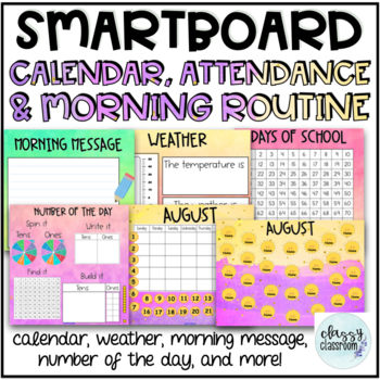 A Full Year of Attendance, Calendar & Morning Routine on t