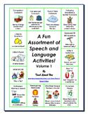 A Fun Assortment of Speech and Language Activities! Volume 1