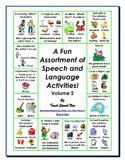 A Fun Assortment of Speech and Language Activities! Volume 2