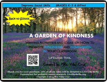 A GARDEN OF KINDNESS-Writing Ideas to Encourage Kindness &