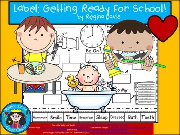 A+ Getting Ready For School Labels.....Labeling Activity F