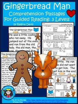 A+ Gingerbread Man Comprehension: Differentiated Instructi