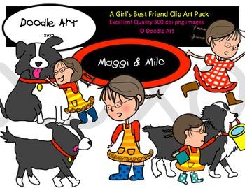 A Girl's Best Friend Clipart Pack