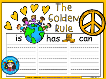 A+ Golden Rule... Three Graphic Organizers