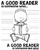 A Good Reader Poster for Reading Comprehension [someone who]