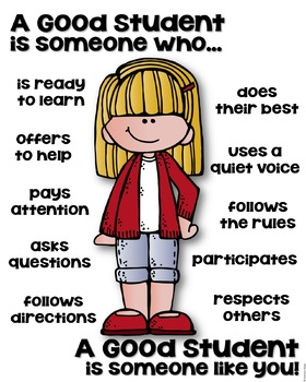 A Good Student Poster - Back to School [someone who]