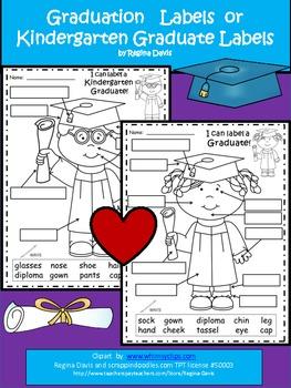 A+ Graduation Labels (Boy And Girl)....Kindergarten Graduation