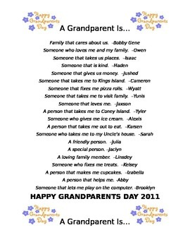 A Grandparent Is...