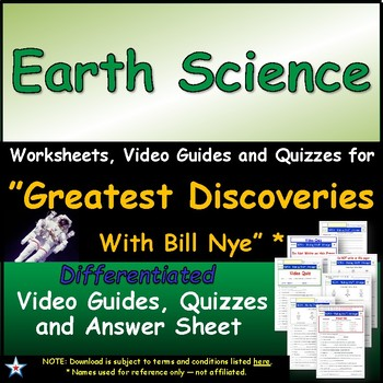 "A Greatest Discoveries  Bill Nye  ""Earth Science"" - Worksh"