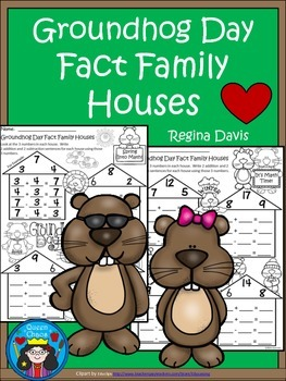A+ Groundhog Day: Fact Family Houses