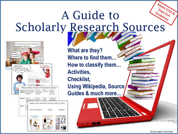 A Guide to Scholarly Research Sources