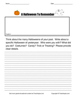 A Halloween to Remember   A Narrative Writing Assignment f