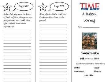 A Historic Journey Trifold - Treasures 5th Grade Unit 5 We