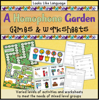 Homophone Picture Game- Language Arts, ESL, Speech, Special ED