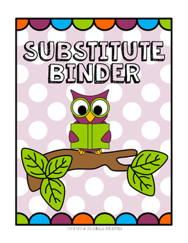 A Hoot of a Substitute Binder (Elementary)