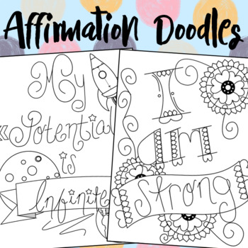 A Humdinger Affirmation Doodle Printable Book