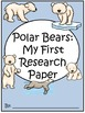 A+ I Can Research Polar Bears: Writing Paper