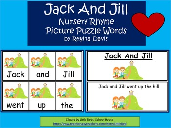 A+ Jack And Jill Picture Puzzle Words