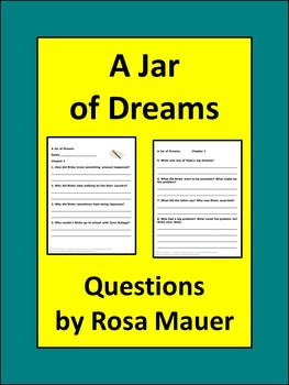 A Jar of Dreams Reading Comprehension