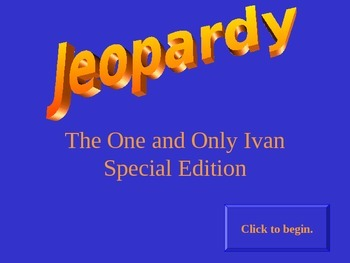 A Jeopardy Power Point Game for The One and Only Ivan