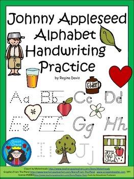 A+ Johnny Appleseed Alphabet Handwriting Practice