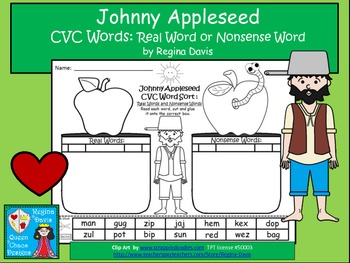 https://www.teacherspayteachers.com/Product/A-Johnny-Appleseed-CVC-Word-Sort-Real-Or-Nonsense-Words-739857