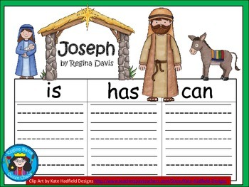 A+  Joseph (from the Christmas Nativity) ... Three Graphic