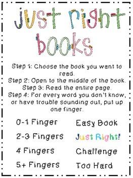 A Just Right Book {FREEBIE}