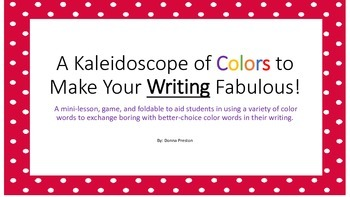 A Kaleidoscope of Colors to Make Your Writing Fabulous!