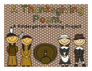 A Kindergarten Thanksgiving Poem Writing Project