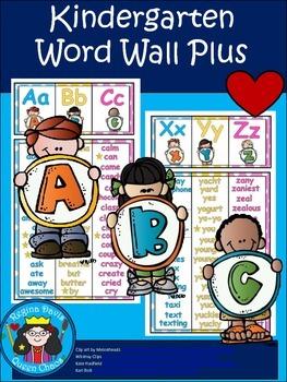 A+ Kindergarten Word Wall Posters